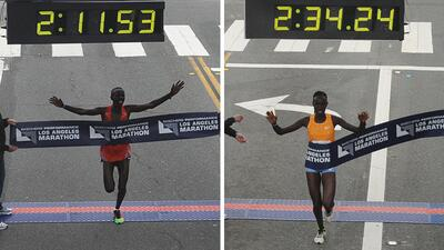 En fotos: Así se vivió el Maratón de Los Ángeles 2017