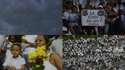 Los detalles que muchos no vieron en el homenaje al Chapecoense en Medellín