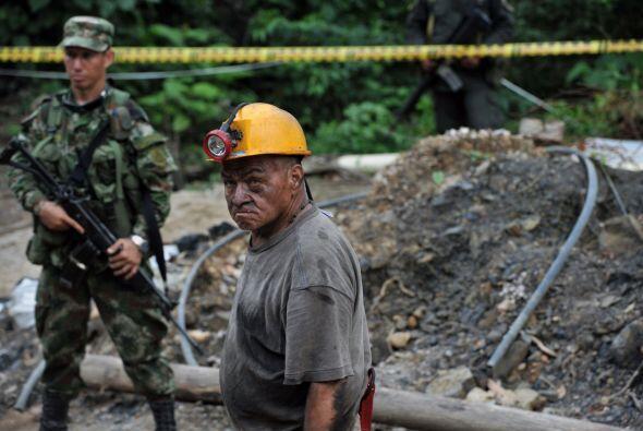 Seguido de la explosión se produjo un derrumbe en el yacimiento, lo que...