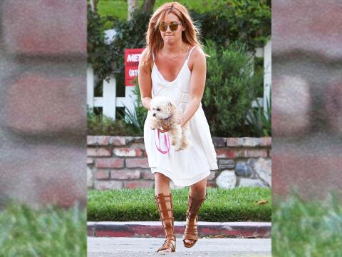 Ashley Tisdale con su perro