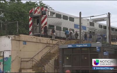 Rayo impacta tren de Metra