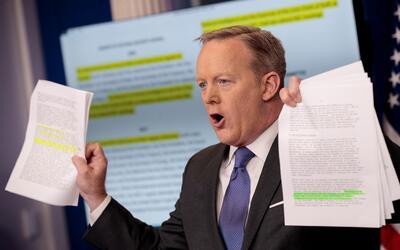 Las combativas ruedas de prensa de Sean Spicer fueron la caracter&iacute...