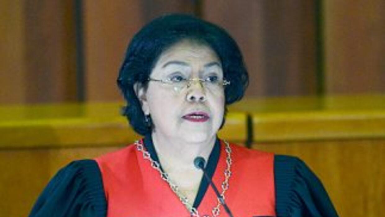 Luisa Estela Morales, presidenta del Tribunal Supremo de Justicia (TSJ)...