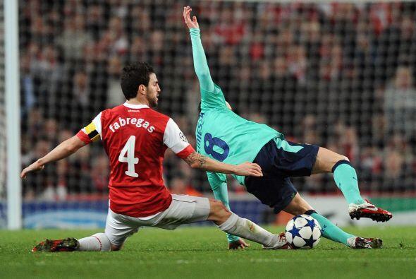 El capitán del Arsenal se sacrificó para su equipo realizando mayormente...