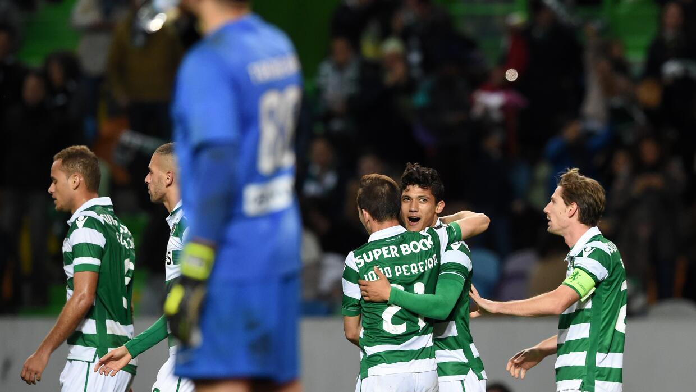 Fredy Montero celebra su gol ante Académica