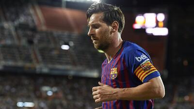 Gráfica de los goles de Messi en sus 15 años con el Barcelona: 462 con la zurda y uno con la mano