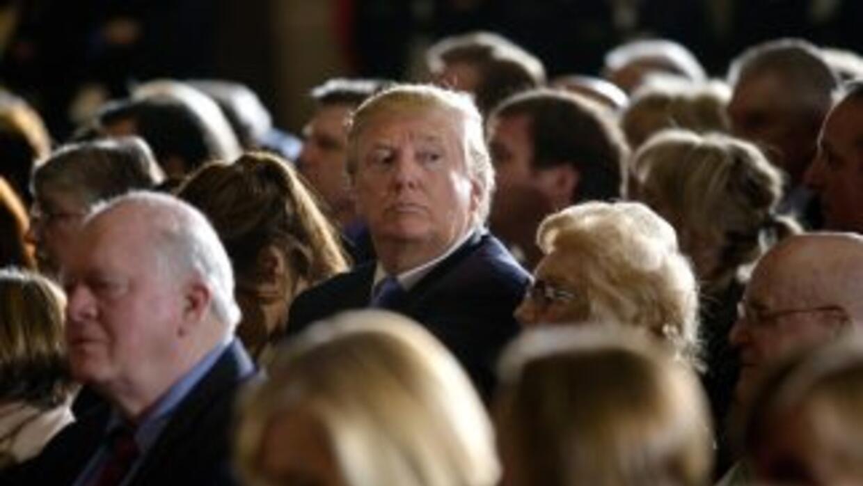 El precandidato pesidencial republicano Donald Trump.
