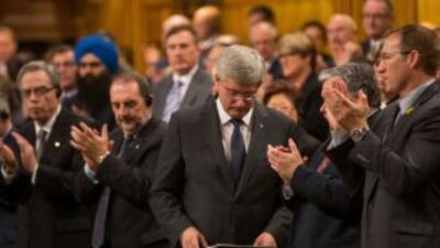 La Cámara de los comunes en presencia del primer ministro Stephen Harper.