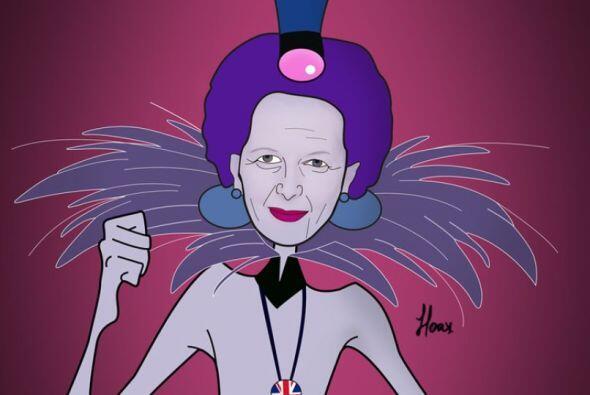 Aquí la fallecida Margaret Thatcher como Yzma de  Las Locuras del Empera...