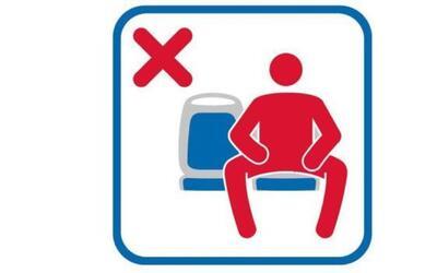 Metro de Madrid estrena una señal que prohíbe a los hombres sentarse con...