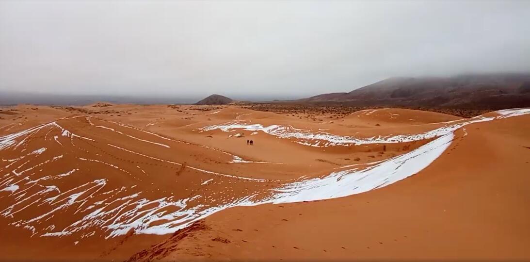 Nieve en el sahara