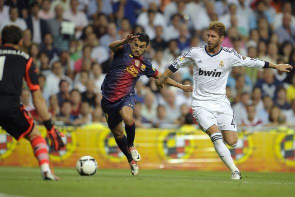 Pedro tuvo un par de ocasiones para lograr ese gol ansiado, sin embargo...