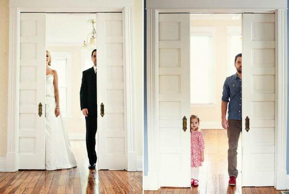 En el año 2009, los recién casados se retrataron en el que sería su nuev...