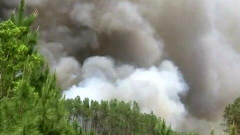 Incendios forestales tienen en alerta de emergencia al sur de país