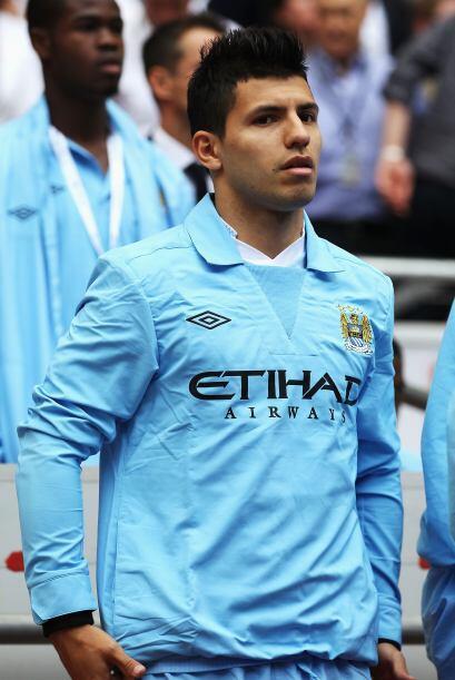 El atacante argentino Sergio Agüero, gran refuerzo del City, inició el p...