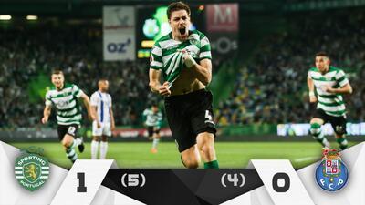 Sporting venció en penales al Porto de los mexicanos y lo eliminó de la Copa