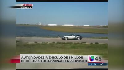 Arrestan a hombre que inundó su Bugatti en Galveston