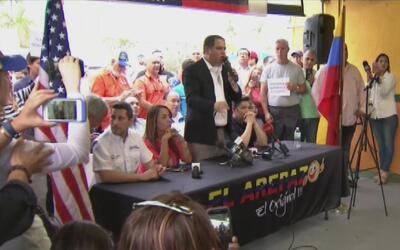 Venezolanos en Miami reaccionaron ante la difícil situación que atravies...