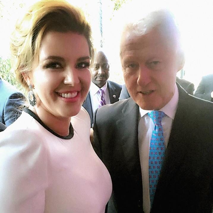 Last week, Alicia Machado published this photo with Bill Clinton on Inst...