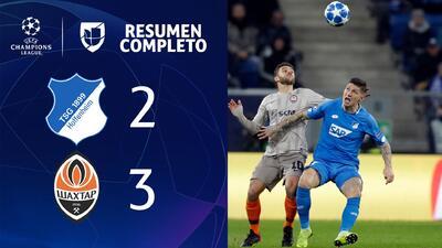 Hoffenheim 2-3 Shakhtar - GOLES Y RESUMEN - Grupo F - UEFA Champions League
