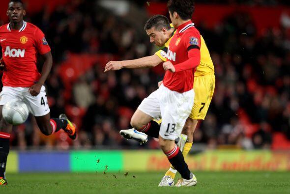 Sin embargo, la posesión de la pelota era del equipo de Old Trafford.