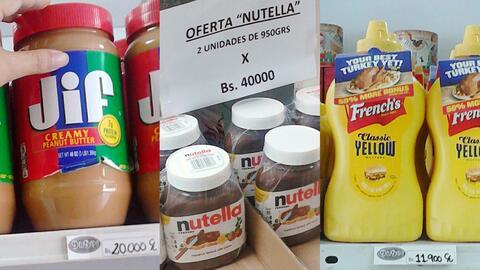 Estos son algunos de los productos importados que se encuentan en las es...