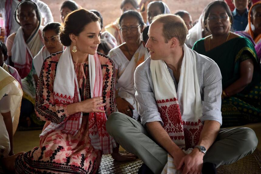 William y Kate durante su visita a India.