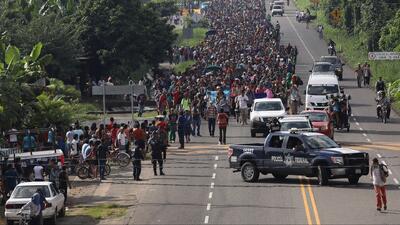 Un grupo de migrantes de la caravana denuncia represión y maltrato en su paso por México