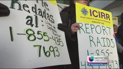 Activistas en Chicago piden suspensión de redadas