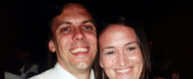 Ana Evans junto a su esposo Hernán Mendoza, quien falleció en Nueva York...