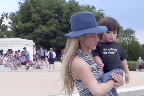 Shakira y Milán están de visita en Washington acompañando a Piqué y a la...