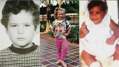 Carlos, Francisca y Alessandra nos enseñaron cómo eran de niños