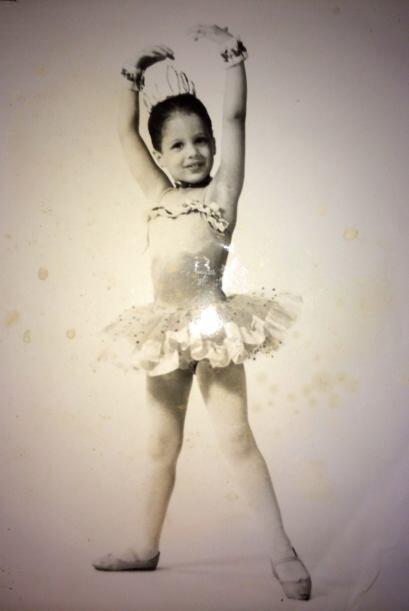 Una hermosa bailarina.