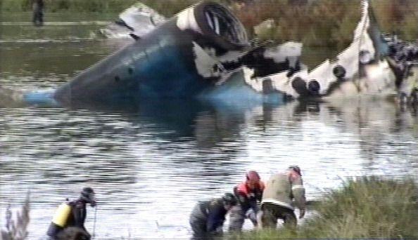 El Ministerio Ruso para Situaciones de Emergencia dijo que el avión Yak-...