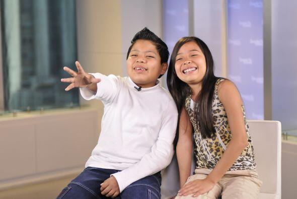 Los dos niños están felices por los miles de seguidores que tienen.