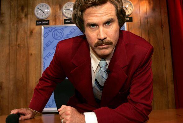 """Uno de sus memorables personajes en el cine, Ron Burgundy de """"Anchorman""""..."""