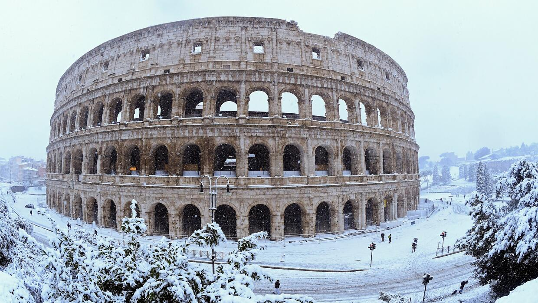 Nieve en Roma