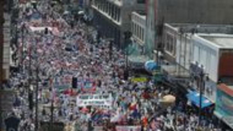 Marchas multitudinarias en 70 ciudades de EEUU