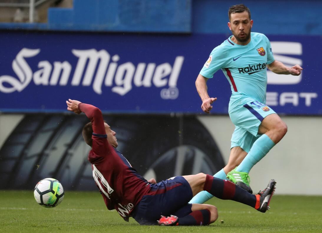 El gol definitivo, a pesar de los esfuerzos del Eibar, lo marcaría Jordi...