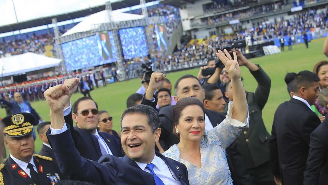 Juan Orlando Hernández was sworn in as president on Saturday for a secon...