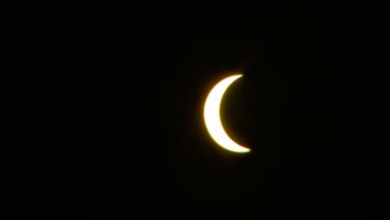 Así se veía el eclipse solar parcial de 2017 en Puerto Ric...