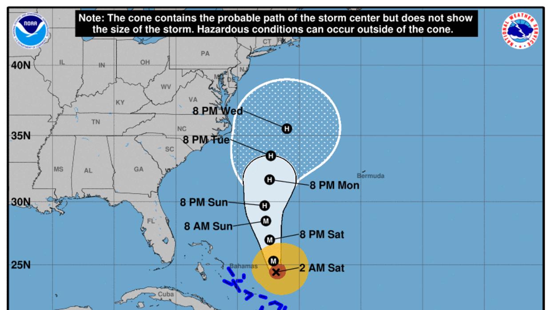 Esta es la situación del huracán maría el sábado 23 de septiembre a las...