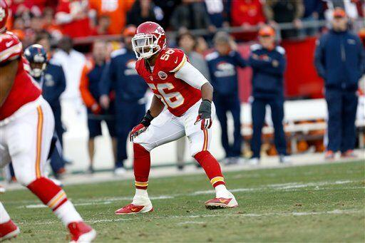 Derrick Johnson, apoyador interno de los Kansas City Chiefs (AP-NFL)
