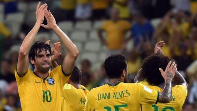 Kaká celebró la victoria sobre Venezuela.