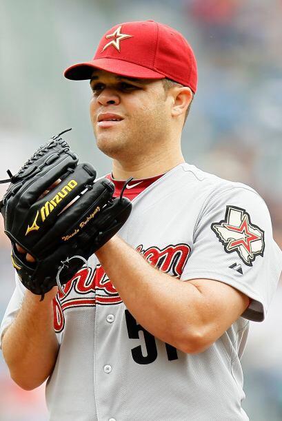 Wandy Rodríguez, de los Astros, (5-3) superó a Bravos y Dodgers con 12 e...