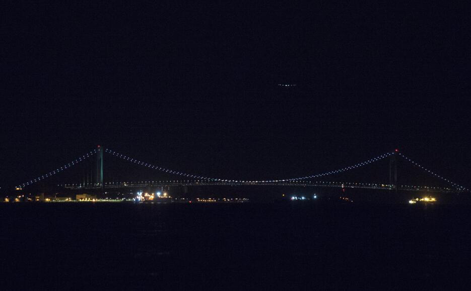 Cruzando el puente Verrazano, entre Staten Island y Brooklyn.