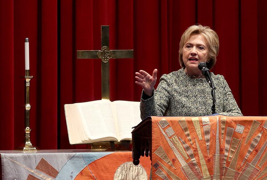 Hillary Clinton en campaña en Nueva York