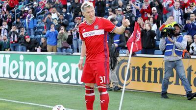 Bastian Schweinsteiger debutó en el Chicago Fire como los grandes