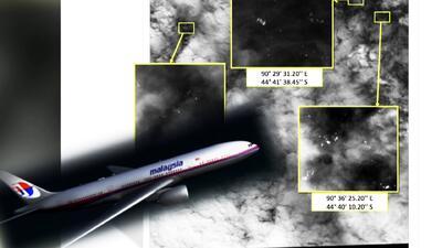 Encuentran objetos flotando que podrían ser del avión de Malasia