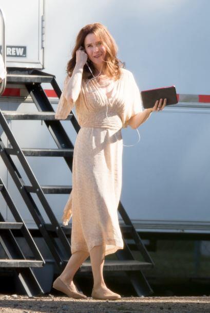 """Durante la filmación, la actriz sorprendió al ir con """"cara lavada""""."""